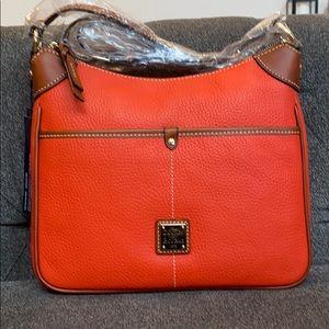 Dooney & Bourke Kimberly crossbody orange leather
